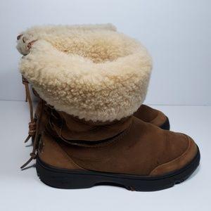 UGG Ultimate Bind Chestnut Short Boots Size 6